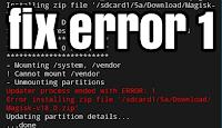 Fix cara mengatasi tidak bisa install magisk error 1 twrp magisk dan cara mengatasi updater process ended with error 1