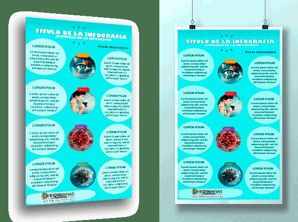 diseño creativo de Infografia en Word