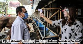 Pastikan Panitia Qurban Dalam Kondisi Sehat merupakan salah satu tips agar tetap aman berqurban di tengah pandemi