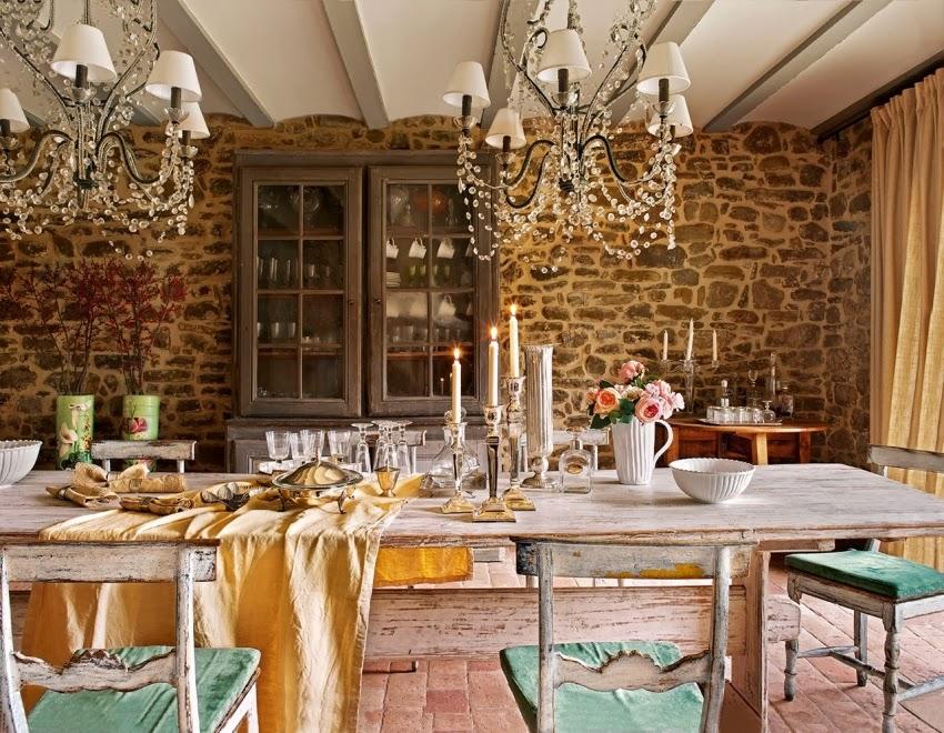 Hiszpański dworek z kamiennymi ścianami, wystrój wnętrz, wnętrza, urządzanie domu, dekoracje wnętrz, aranżacja wnętrz, inspiracje wnętrz,interior design , dom i wnętrze, aranżacja mieszkania, modne wnętrza, styl klasyczny, styl rustykalny, styl francuski, jadalnia