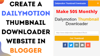 Dailymotion thumbnail Downloader Script For Blogger