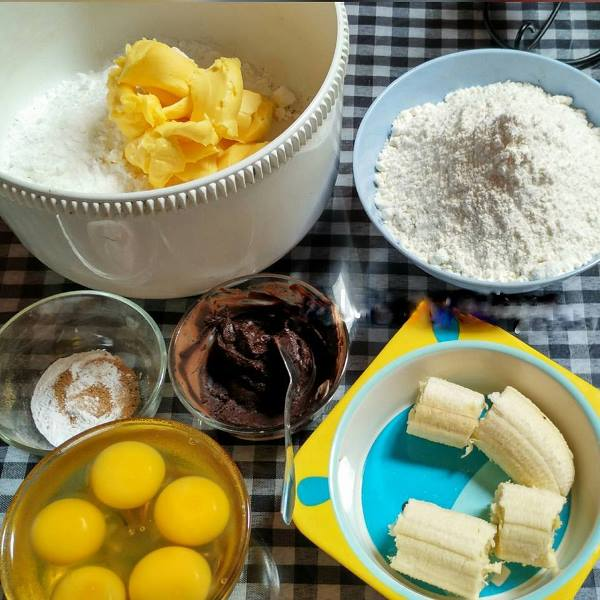 Resep Marmer Cake Blue Band