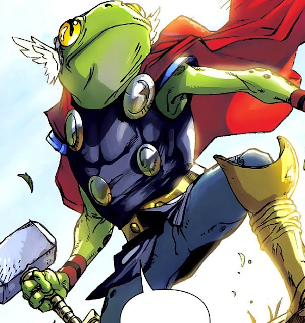 Throg, o Sapo do Trovão. (Fonte: Marvel Comics)
