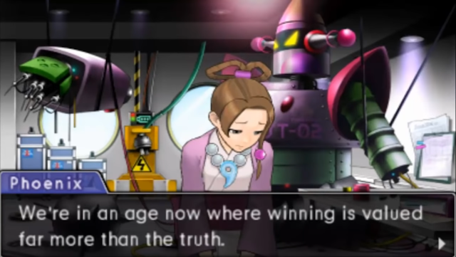 Phoenix Wright Ace Attorney Dual Destinies dark age of law winning valued more than truth