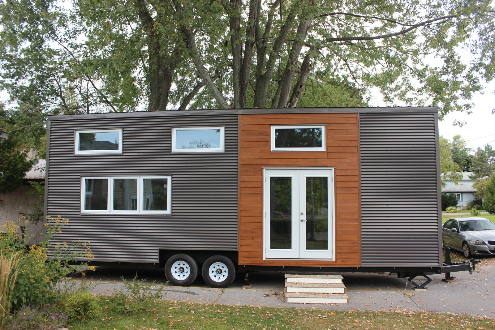 Tiny house town kingston tiny home 390 sq ft for Contemporary tiny house