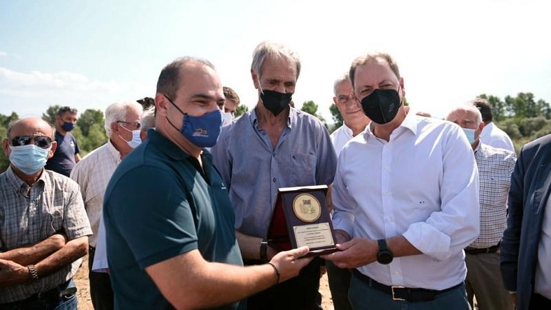 Περιοδεία ΥΠΑΑΤ Σπήλιου Λιβανού στον Έβρο - Ξεκινά η κατασκευή του αρδευτικού έργου Ερυθροποτάμου