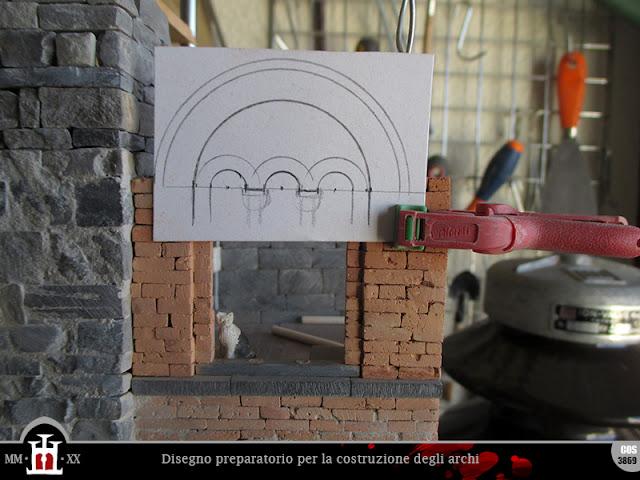 Disegno preparatorio per la costruzione degli archi