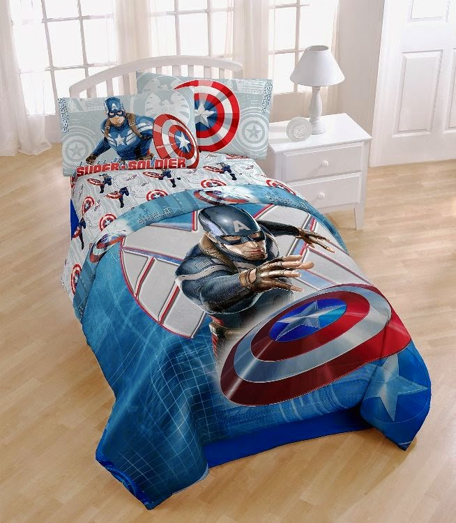 Bedroom Decor Ideas and Designs: Captain America Themed ...