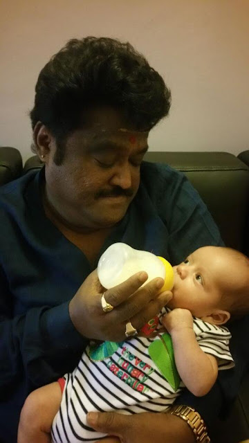 Jaggesh with grandson