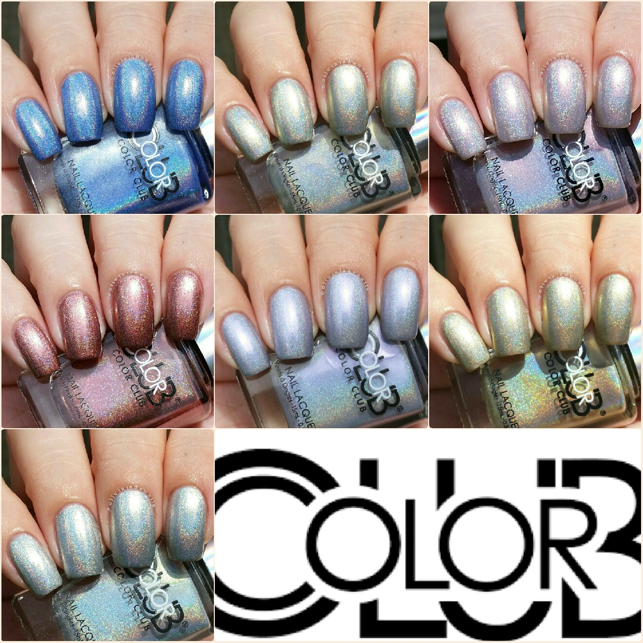 Olivia Jade Nails: Color Club Halo Hues 2015 Collection - Swatches ...
