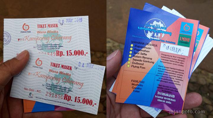 tarif tiket wisata ciherang