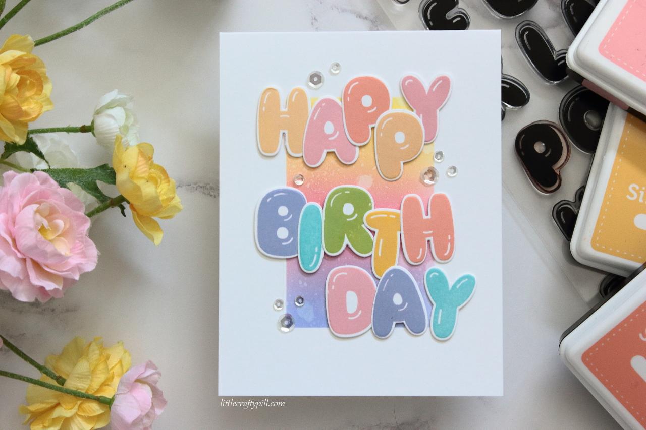 Little Crafty Pill Happy Birthday Balloons