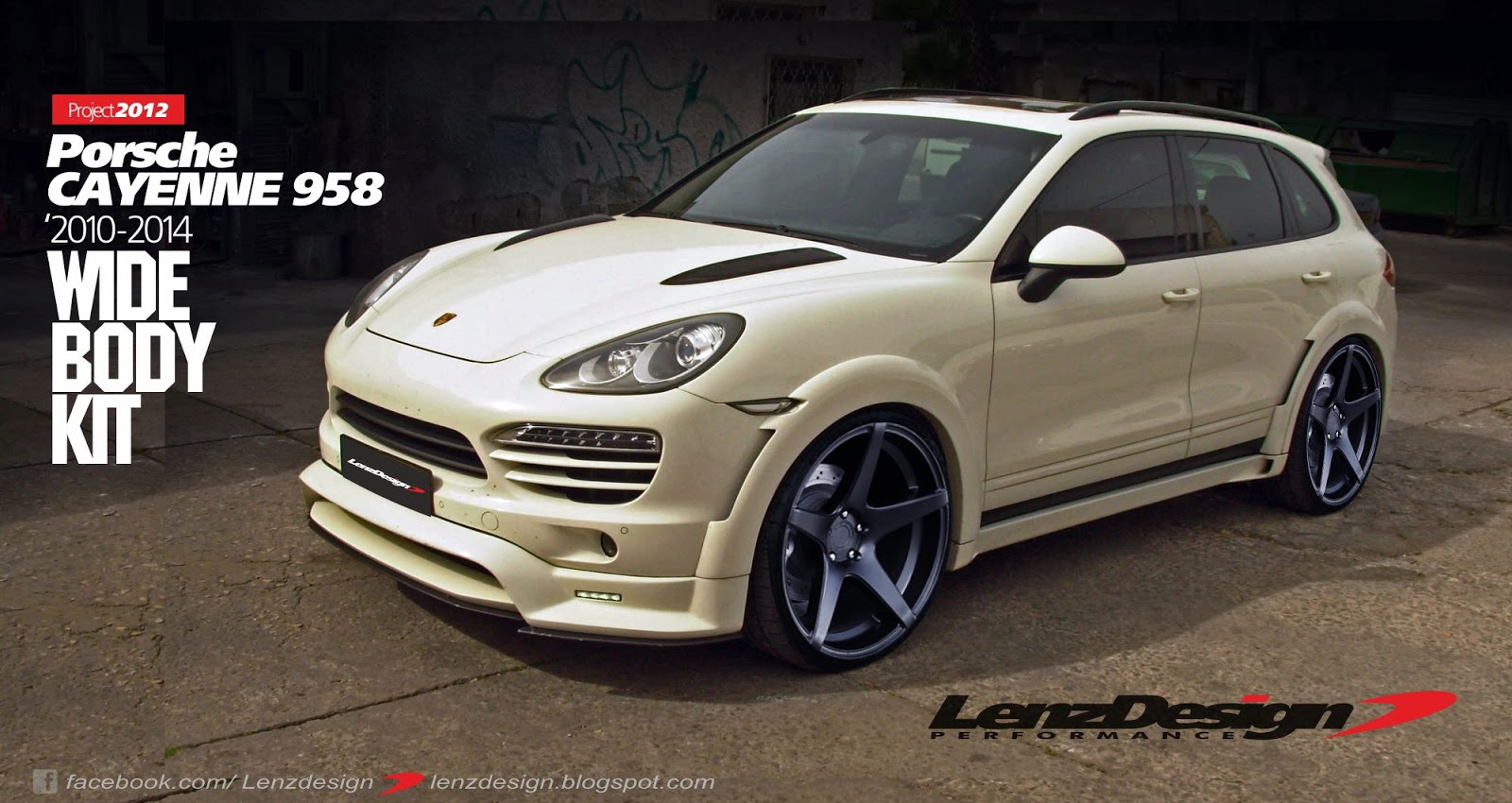 Porsche Cayenne 958 Tuning Wide Body Kit Lenzdesign