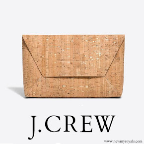 Queen Maxima carries J. Crew Cork Envelope Clutch