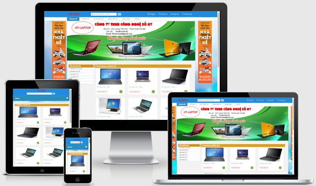 Template blogspot bán hàng laptop chuẩn seo