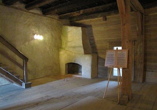 Pomieszczenie na drugiej kondygnacji Wieży Książęcej.