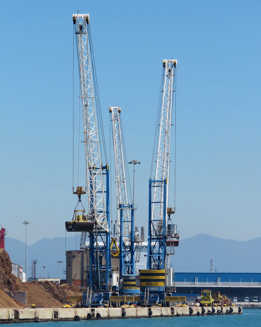 Three cranes, port of Livorno