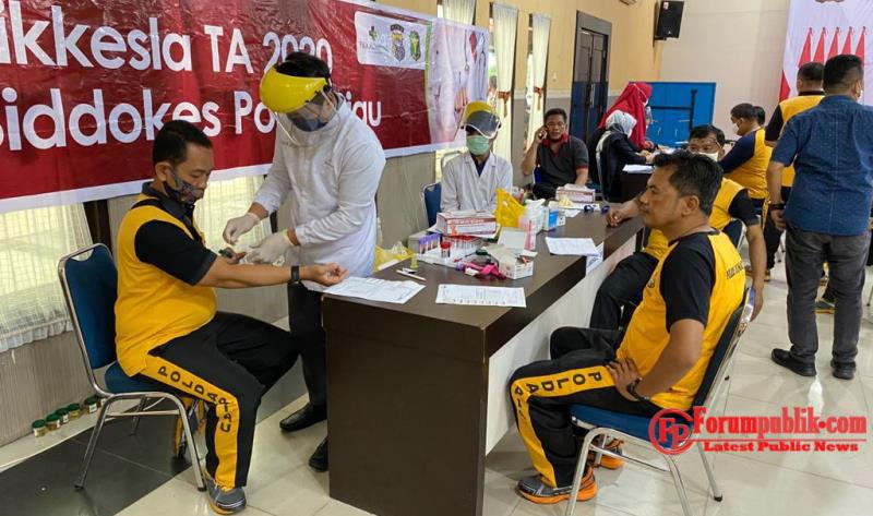 Biddokes Polda Riau Laksanakan Supervisi Rikkes Berkala T.A. 2020 Pada Personil Polres Dumai
