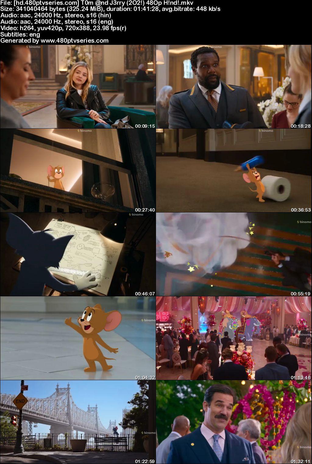 Tom and Jerry (2021) 300MB Full Hindi Dual Audio Movie Download 480p WebRip Free Watch Online Full Movie Download Worldfree4u 9xmovies