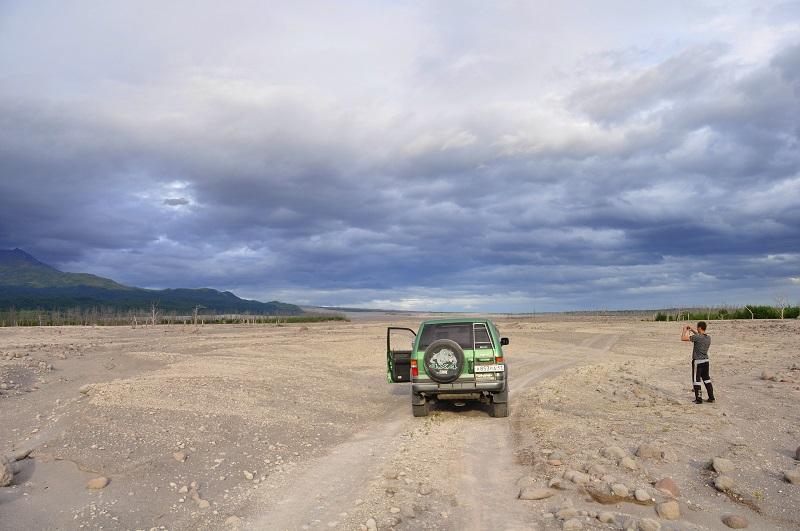 дорога к вулкану шивелуч камчатка