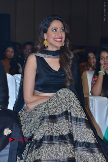 Actress Pragya Jaiswal Stills in Black Dress at Om Namo Venkatesaya Audio Launch Event  0011.JPG