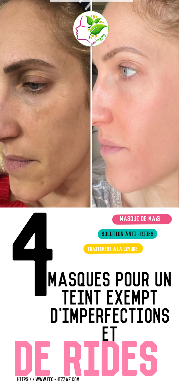 4 masques pour un teint exempt d'imperfections et de rides