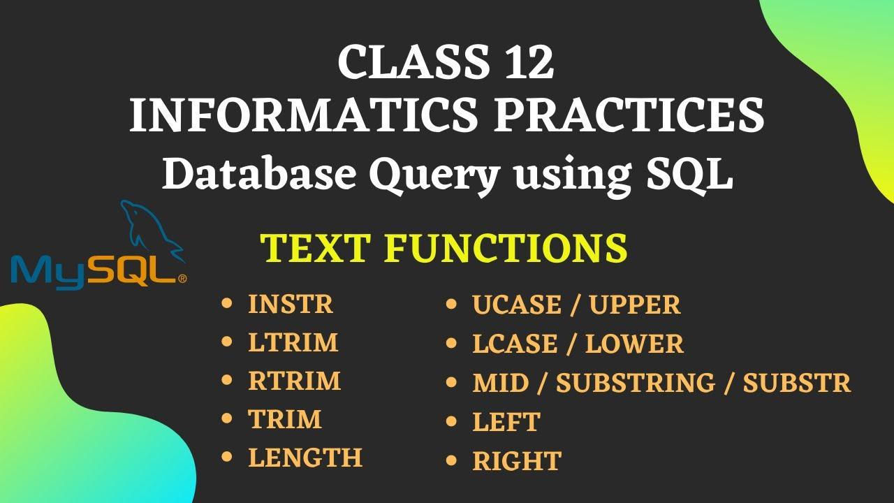 MySQL Text Function