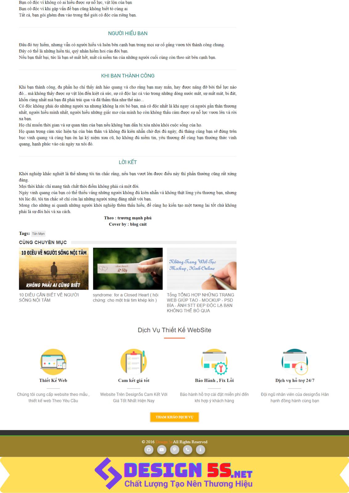 Template blogspot miễn phí ( Blog design 5s ) 2019 - Ảnh 2