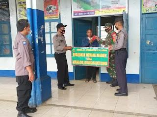 Operasi Yustisi Penertiban Prokes dan Bagi Masker Ke Warga