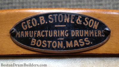 1910s George B. Stone & Son Drum Badge