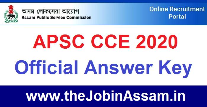 APSC CCE 2020– Check Official APSC Answer Key