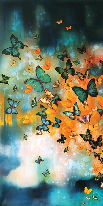 obrazy motylowe diy
