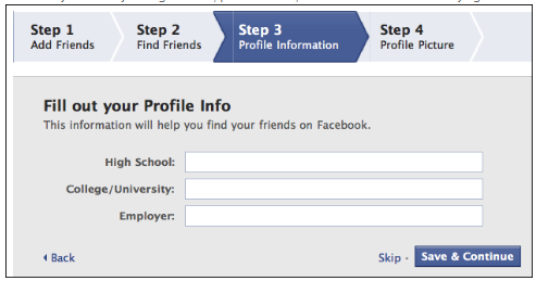 Facebook Create New Account Sign Up