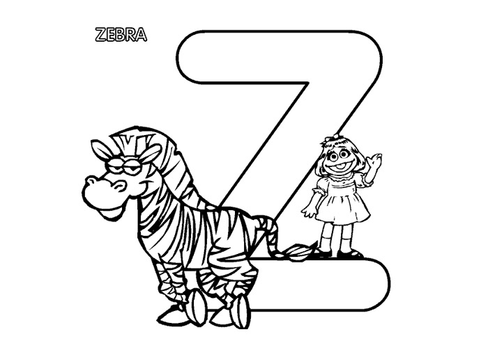 Coloring Pages For Kids: Animal Alphabet Coloring Pages