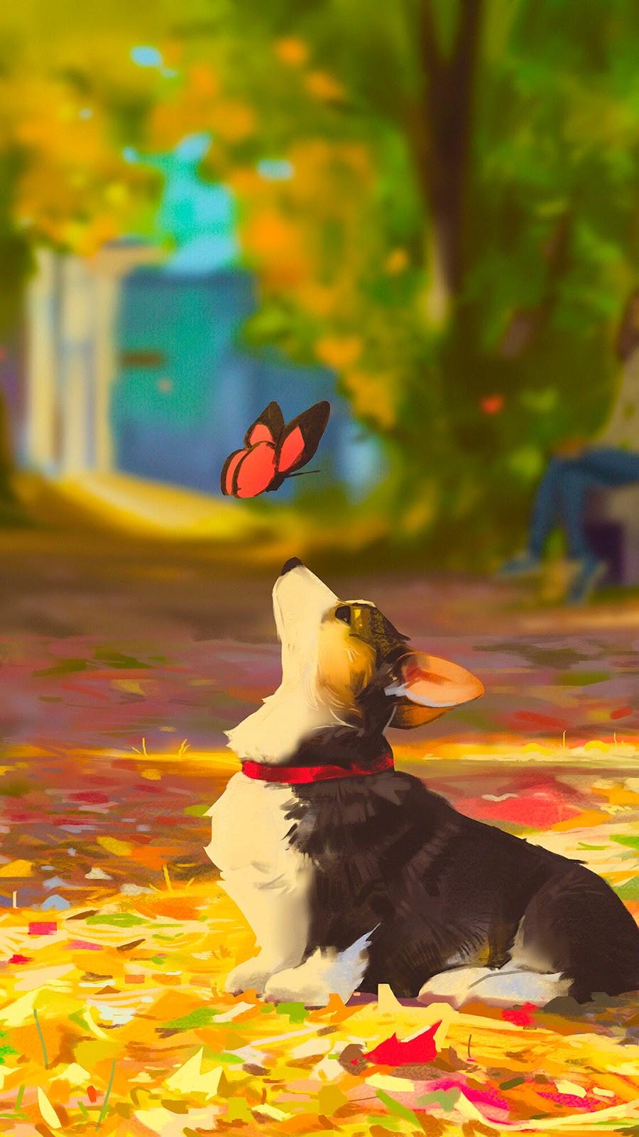 Beautiful dog illustration
