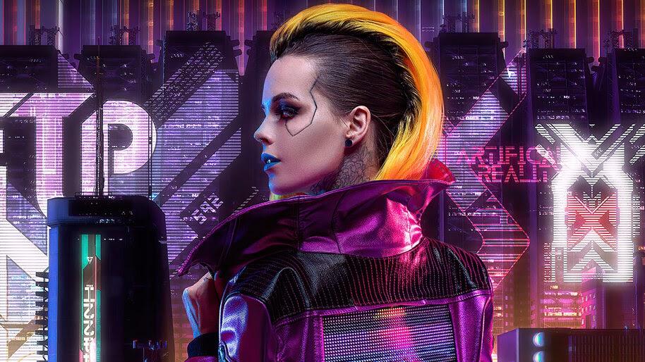 Cyberpunk 2077, Girl, Sci-Fi, 4K, #6.783