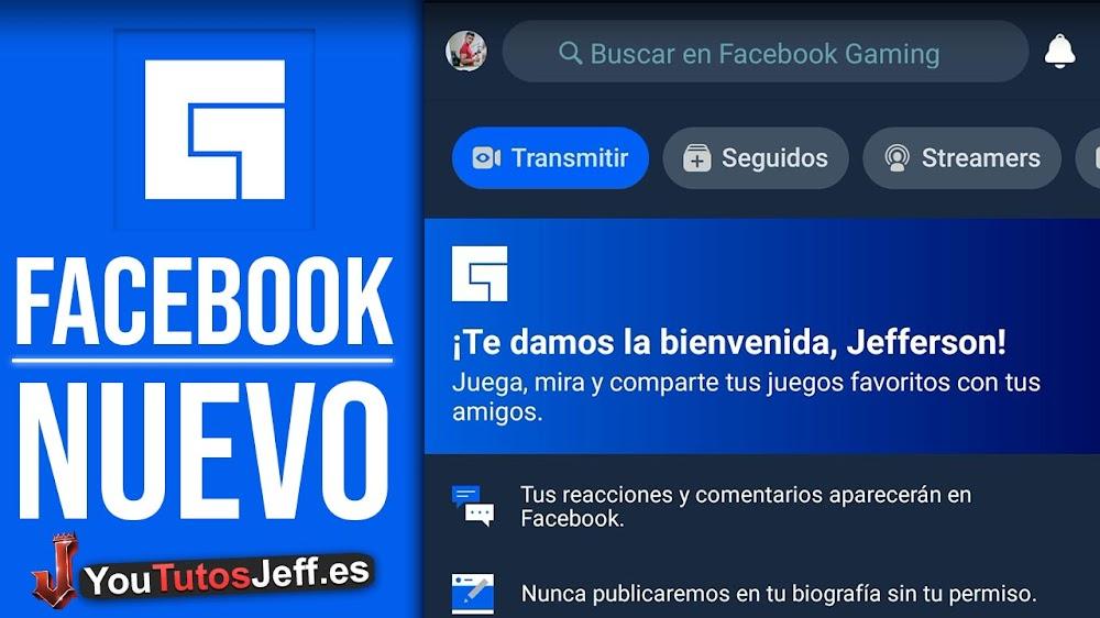 Nuevo Facebook Gaming DARK😍🎮Descargar Facebook Gaming Android