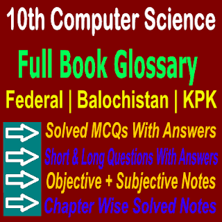 Solved Computer Science Chapter Wise Notes Full Book Glossary Notes In PDF