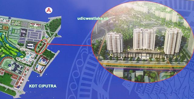 Vị trí dự án chung cư UDIC Westlake Võ Chí Công Ciputra Tây Hồ