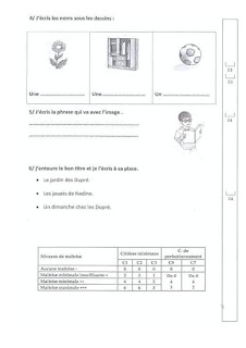 سنة رابعة : نماذج امتحانات فرنسية  ثلاثي1