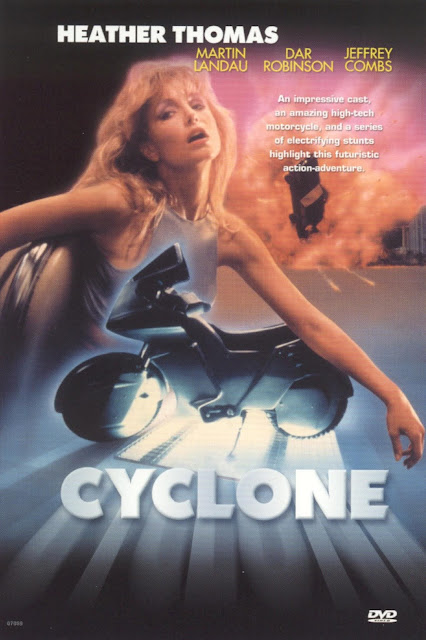 Heather Thomas stars in Cyclone (1987) - DVD Cover
