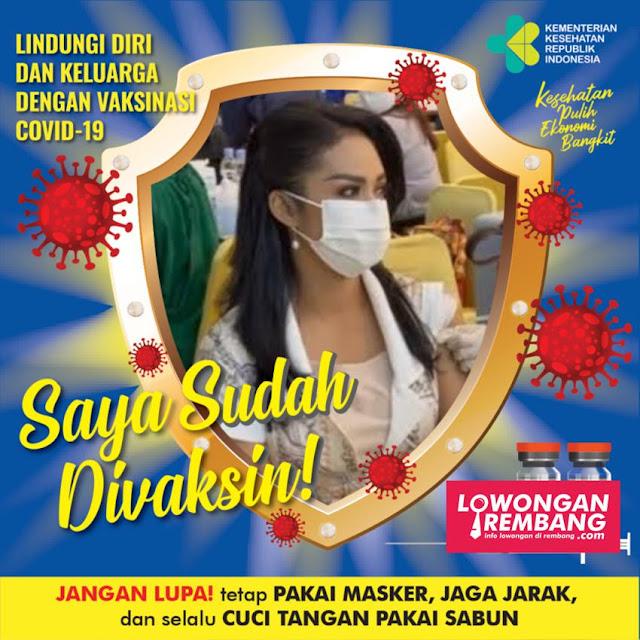 Mari Dukung Vaksinasi Dengan Memviralkan Twibbon Sobat Loker Rembang