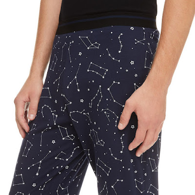 comfy pants with stars and constellations