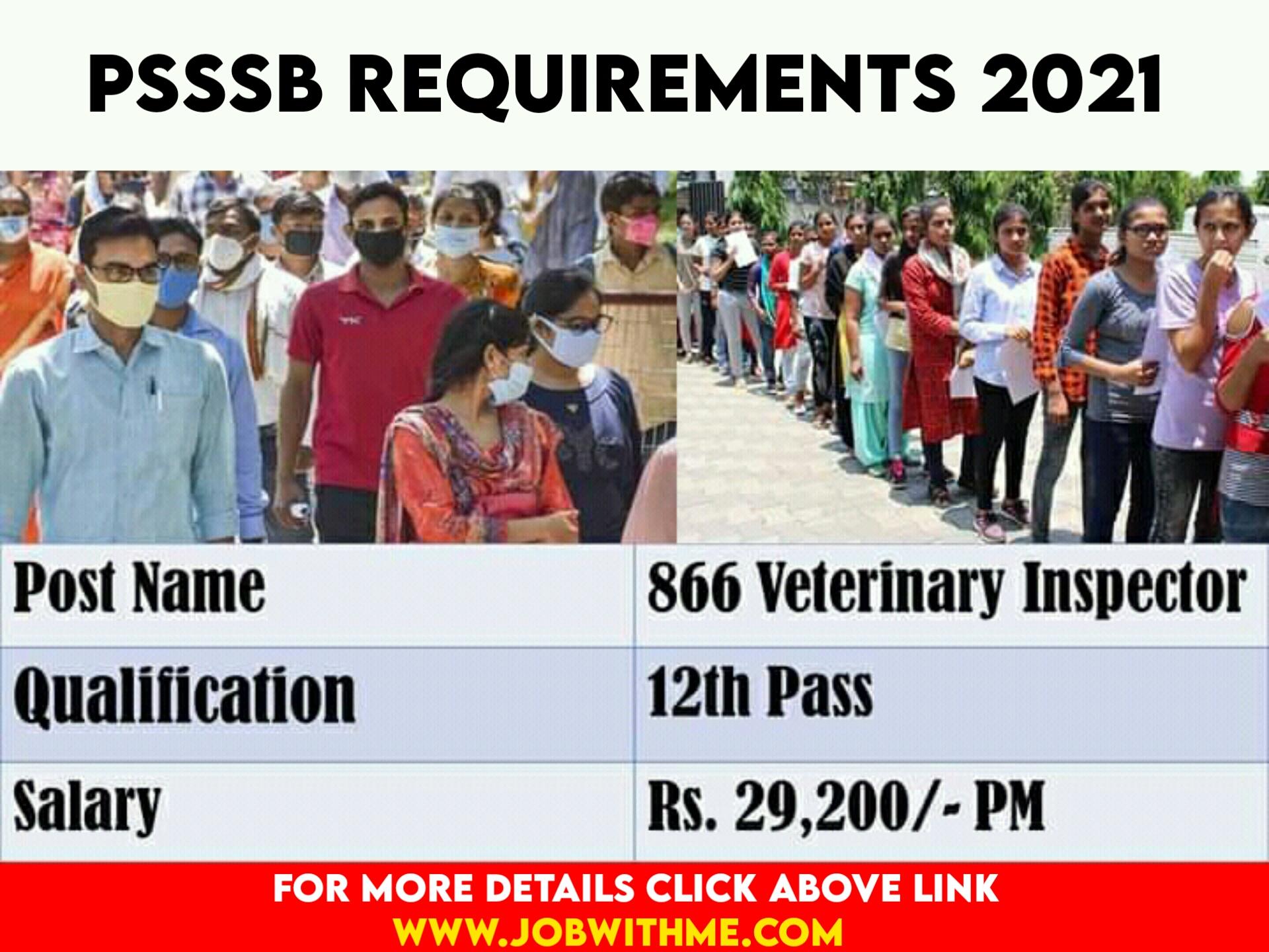 PSSSB REQUIREMENTS 2021
