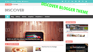 Discover Responsive Blogger Theme - Responsive Blogger Template