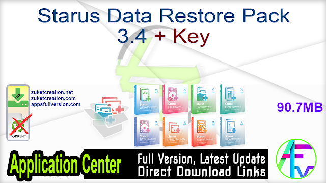 Starus Data Restore Pack 3.4 + Key