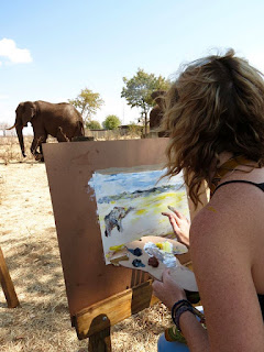 Art workshop at The Wallow - Victoria Falls, Zimbabwe