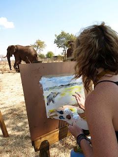 Art workshop at The Wallow - Victoria Falls, Zimbabwe