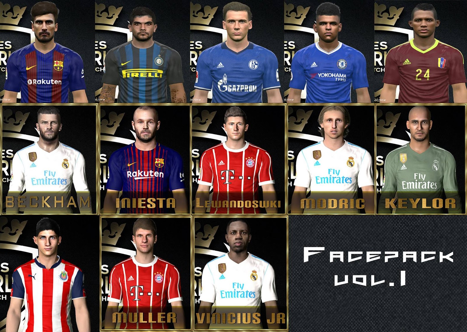 PES 2017 Facepack Vol. 1 by Robert Facemaker