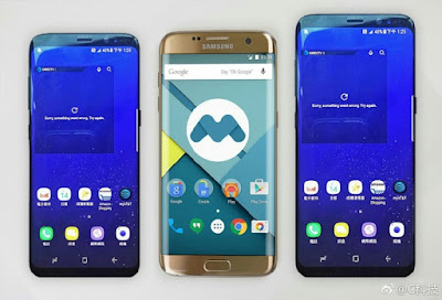 Samsung Galaxy S8 and S8 Plus Size comparison with Galaxy Note 7 and Galaxy S7 Edge